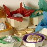 Buquê multicolor nas suas embalagens para queijos