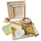 Bandeja de madeira para queijos